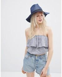 Asos Collection Straw Fedora Hat