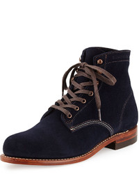 Navy Suede Casual Boots