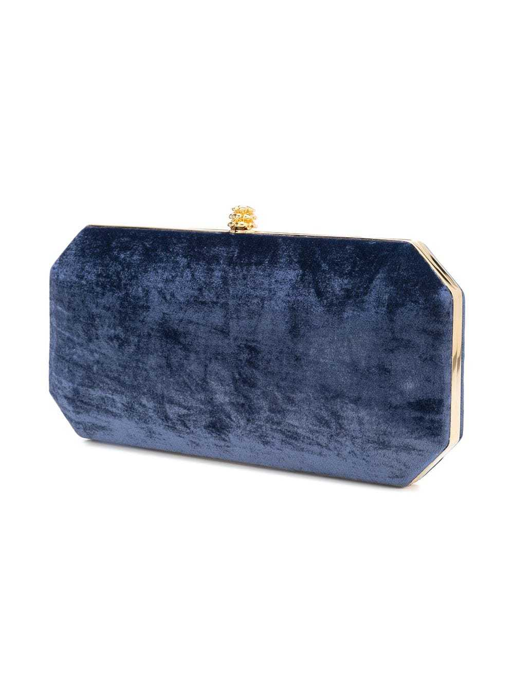 SUEDETTE LARGE  FLAT DARK ROYAL BLUE SUEDE BLUE SHOULDER BAG CLUTCH BAG