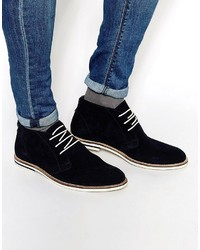 Chukka boots in navy suede medium 750284