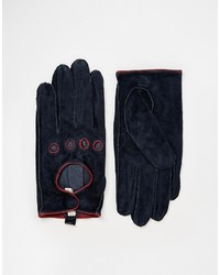Pieces Suede Cutout Gloves