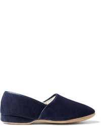Crawford shearling lined suede slippers medium 589775