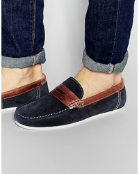 Penny loafers in blue suede medium 737722