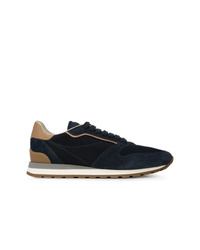 Brunello Cucinelli Panel Lace Up Sneakers