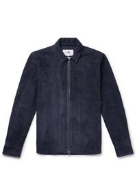 Nn07 Slim Fit Suede Shirt Jacket