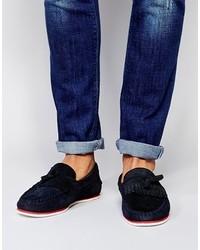 Asos Brand Tassel Loafers In Suede