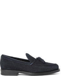 Suede tasselled loafers medium 687369