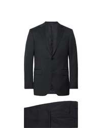 Ermenegildo Zegna Midnight Blue Slim Fit Wool Twill Suit