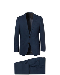 Hugo Boss Navy Hugegenius Slim Fit Puppytooth Virgin Wool Suit