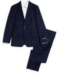 Hart Schaffner Marx Plaid Wool Suit