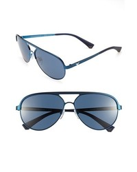 Emporio Armani 59mm Aviator Sunglasses Blue One Size