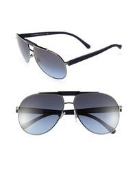62mm Classic Aviator Sunglasses Gunmetal Blue One Size