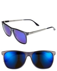 Carrera Eyewear 57mm Retro Sunglasses Transparent Blue