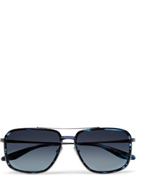 b866446435 ... Barton Perreira Magnate Aviator Style Acetate And Pewter Tone Sunglasses