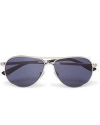 Tom Ford Marko Aviator Style Silver Tone Sunglasses