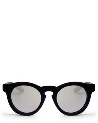 Italia Independent Velvet Coated Mirrored Sunglasses