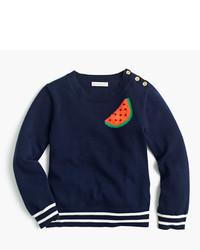 J.Crew Girls Watermelon Popover Sweater