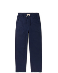 Albam Cotton Blend Twill Drawstring Trousers