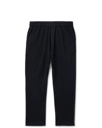 Barena Navy Tapered Stretch Virgin Wool Drawstring Trousers