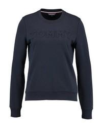 Tommy Hilfiger Embossed Crew Neck Sweatshirt Blue
