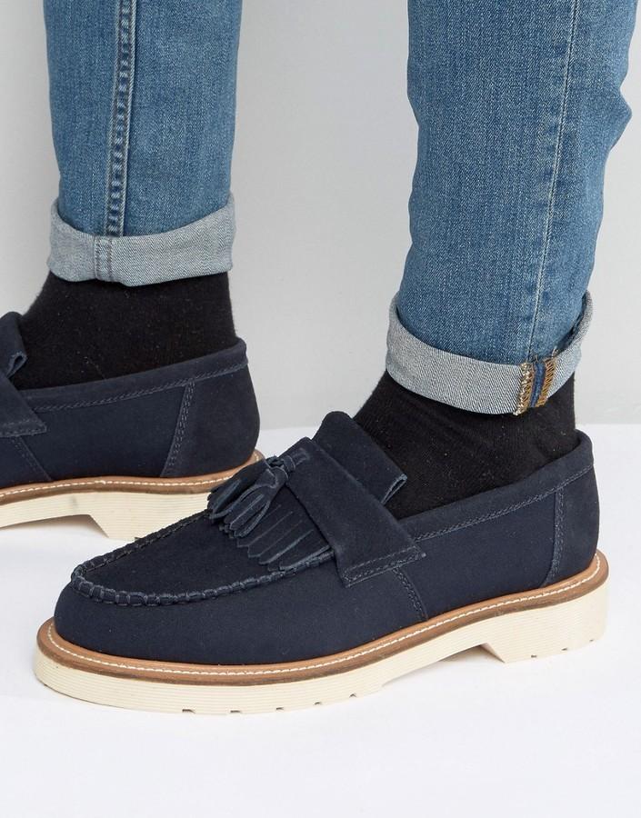 Big Deals Dr Martens Windsor Adrian Tassel Loafers mens Navy Dr Martens Mens Loafers