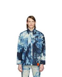 Navy Tie-Dye Shirt Jacket