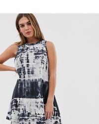Wednesday's Girl Vest Swing Dress In Tie Dye
