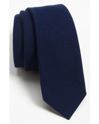 Solid wool blend skinny tie medium 135692