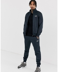EA7 Tricot Logo Tracksuit In Navy