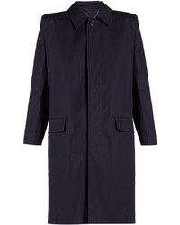 Balenciaga Structured Shoulder Cotton Trench Coat