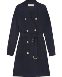 MICHAEL Michael Kors Michl Michl Kors Satin Crepe Trench Coat Navy