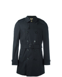 Burberry The Chelsea Mid Lenght Trench Coat Blue