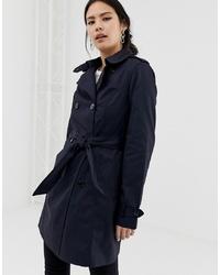Pimkie Trench Coat In Dark Blue