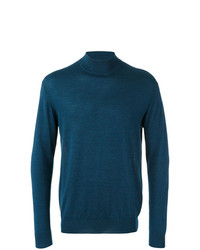 N.Peal Fine Gauge Mock Turtle Neck Jumper