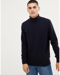 Barbour Leahill Roll Neck Jumper In Navy