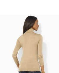 Ralph Lauren Silk Cotton Turtleneck