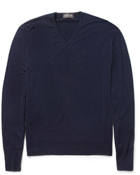 John Smedley Bobby V Neck Merino Wool Sweater