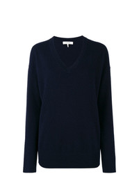 Frame Denim Navy V Neck Knitted Sweater
