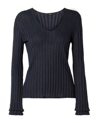 Akris Ribbed Silk Blend Sweater