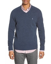 Original Penguin V Neck Lambswool Sweater