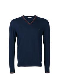 Etro V Neck Logo Sweater