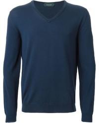 Zanone V Neck Sweater