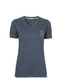 GUILD PRIME Star Studded Pocket V Neck T Shirt
