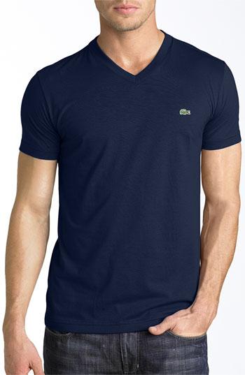 d47531cf95 V Neck T Shirt Navy 6