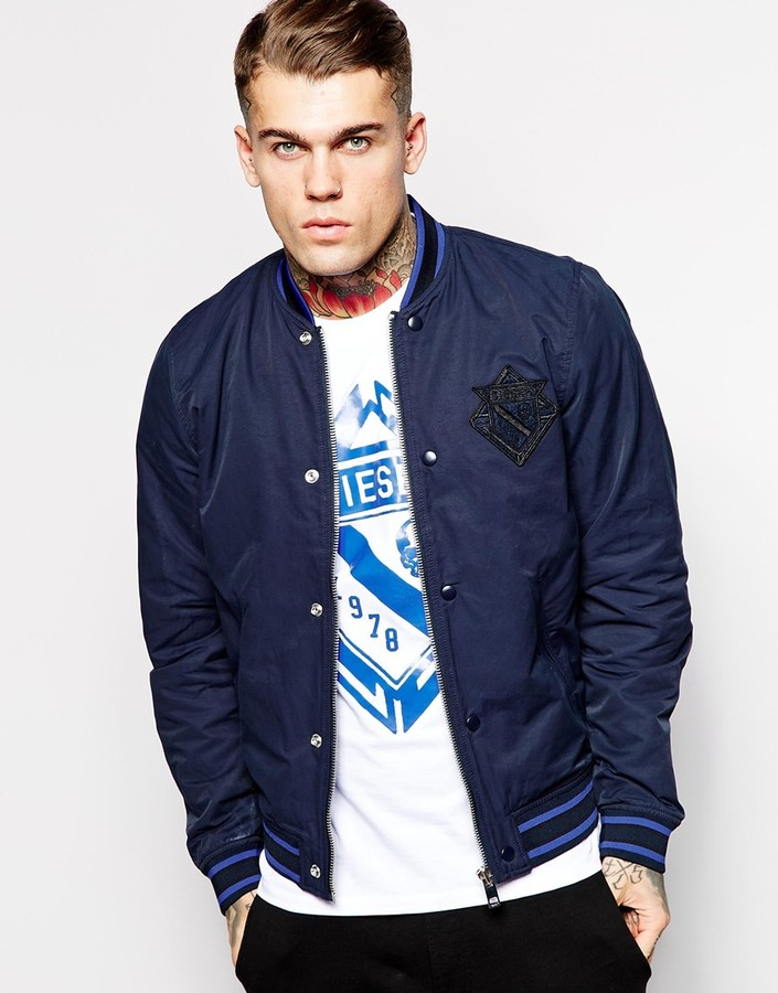 Diesel Jacket J Iowa Lightweight Varsity Bomber | Where to buy ...