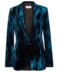 Saint Laurent Crushed Velvet Blazer