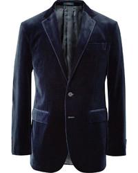Polo Ralph Lauren Navy Slim Fit Velvet Blazer