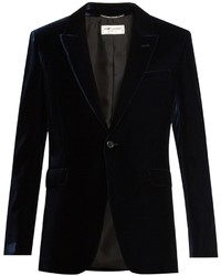 Saint Laurent Peak Lapel Velvet Blazer