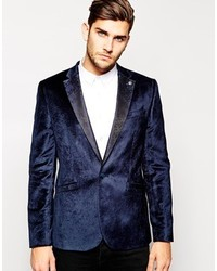 Ted Baker Velvet Blazer In Slim Fit