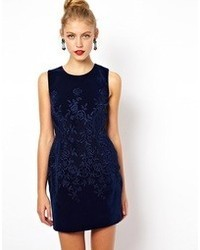 Embroidered velvet prom dress dark red medium 45637